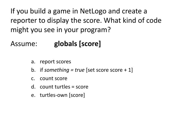 If you build a game in