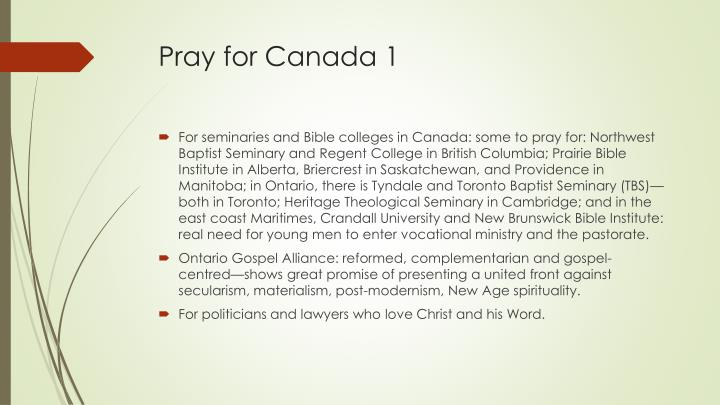 Pray for Canada 1
