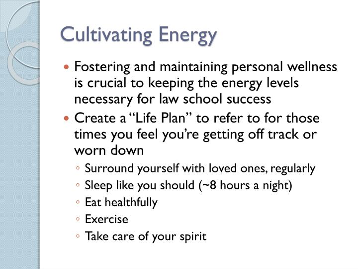 Cultivating Energy