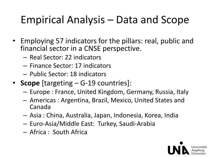 Empirical Analysis –