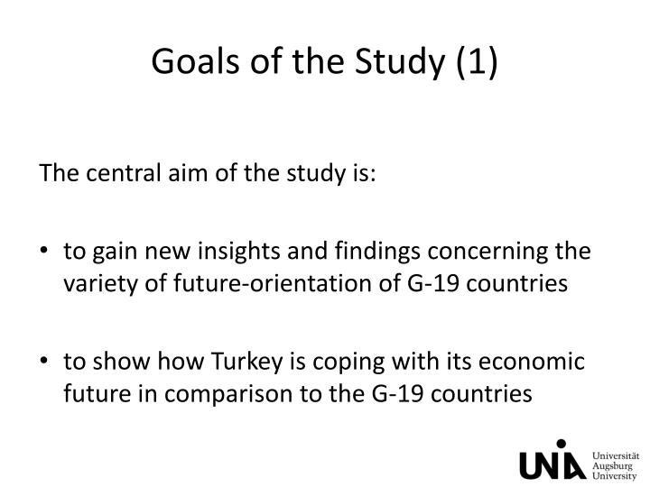 Goals of the Study (1)