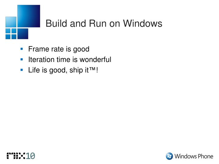 Build and Run on Windows