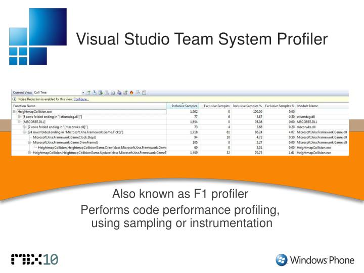 Visual Studio Team System Profiler