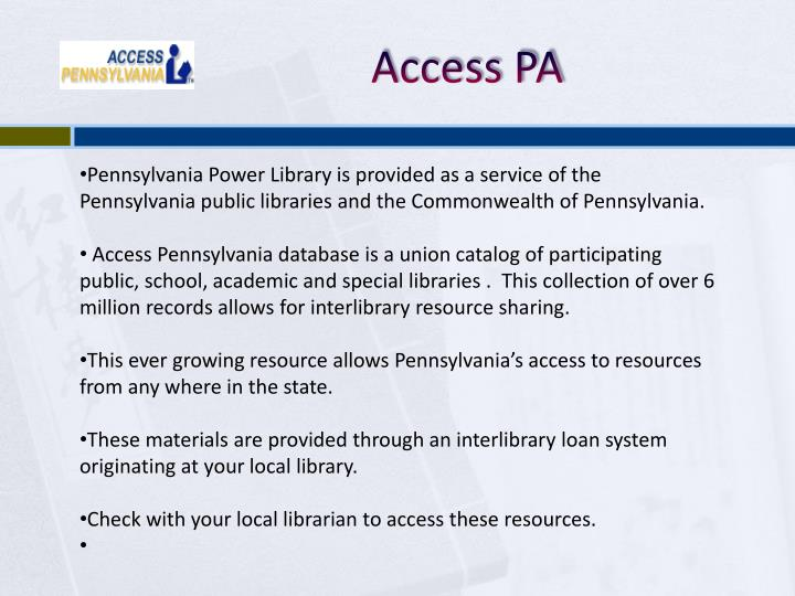 Access PA