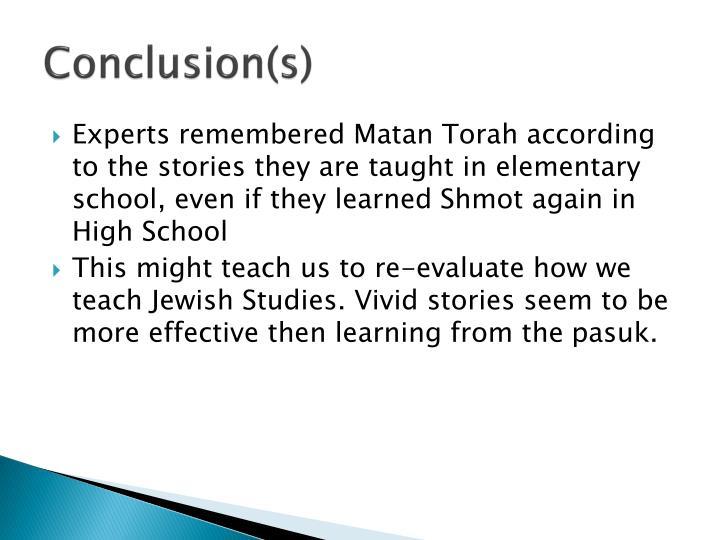 Conclusion(s)