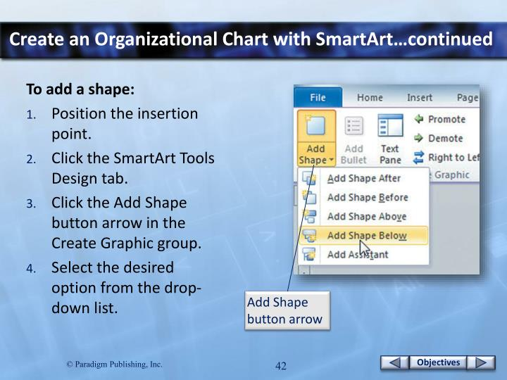 Create an Organizational Chart with