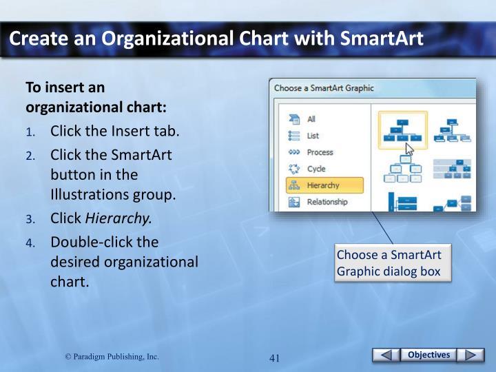 Create an Organizational Chart with SmartArt