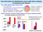 how will surface o 3 distributions evolve with future changes in emissions and climate