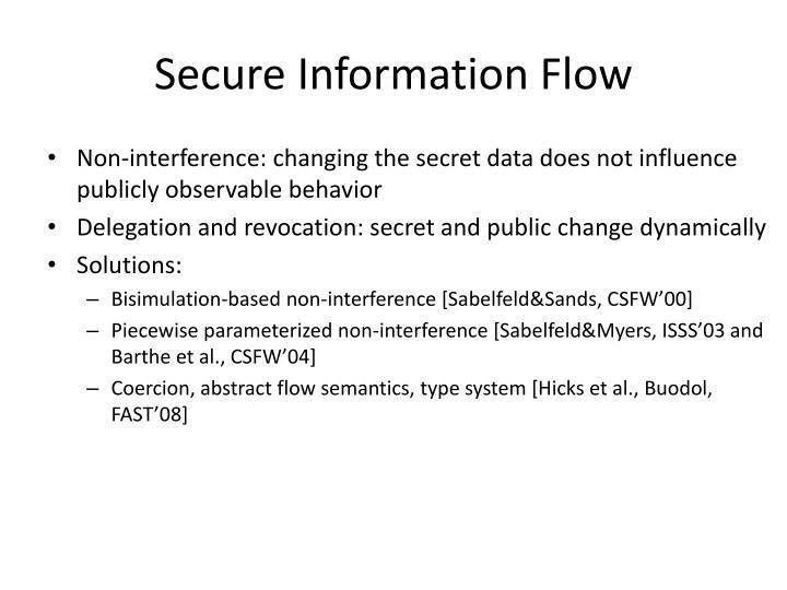 Secure Information Flow