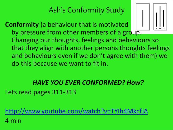 Ash's Conformity Study