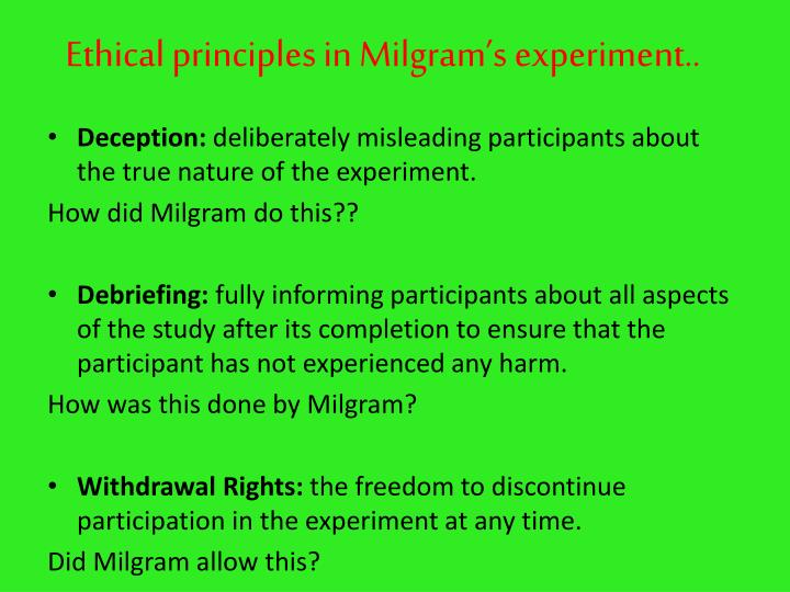 Ethical principles in