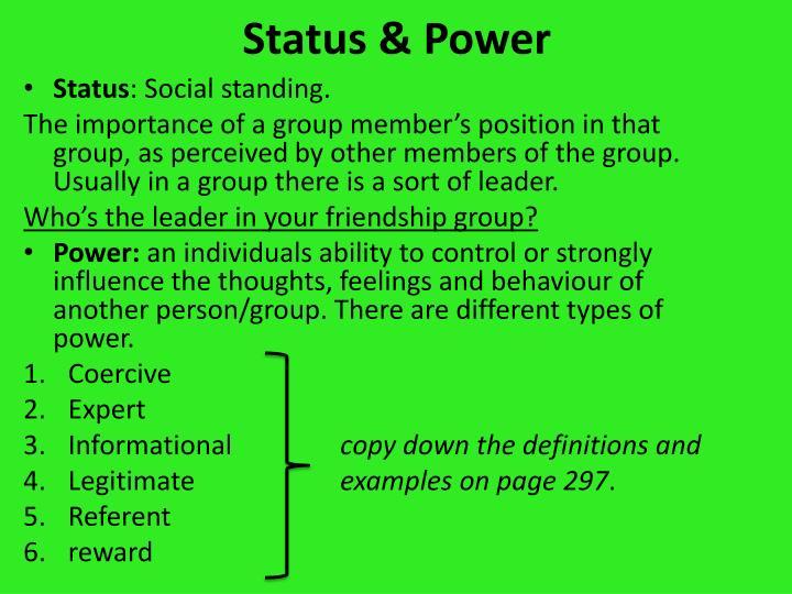 Status & Power