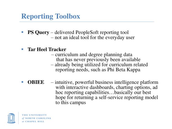 Reporting Toolbox