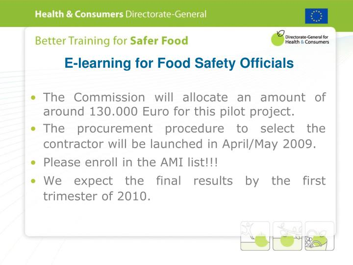 E-learning for Food Safety Officials