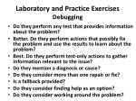 laboratory and practice exercises debugging