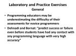 laboratory and practice exercises general