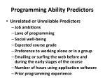 programming ability predictors1