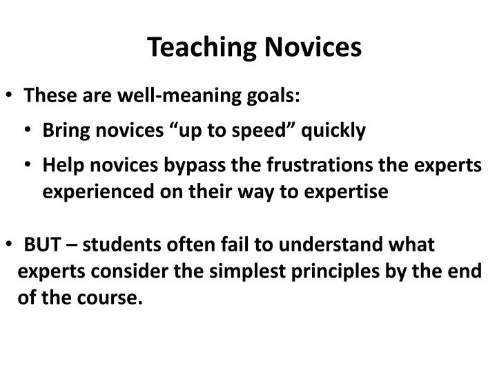 Teaching novices1