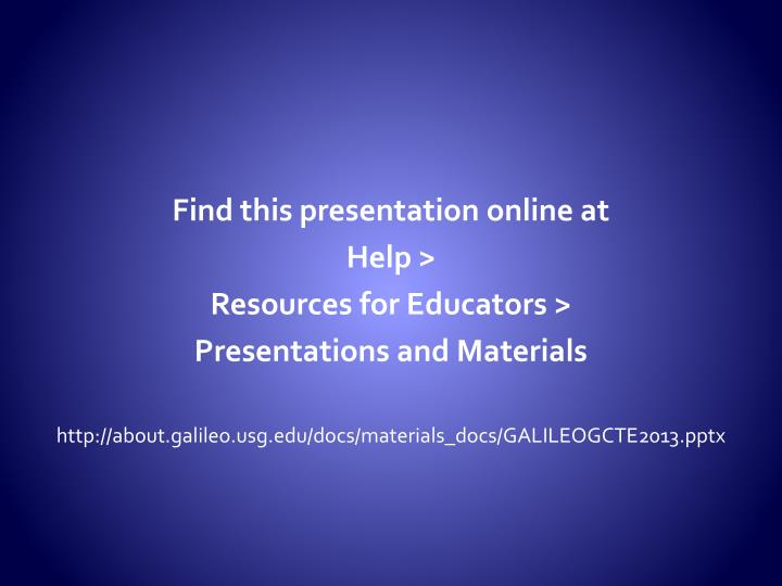 Find this presentation online at