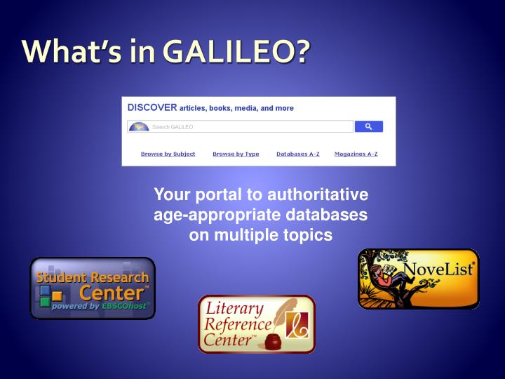 What's in GALILEO?