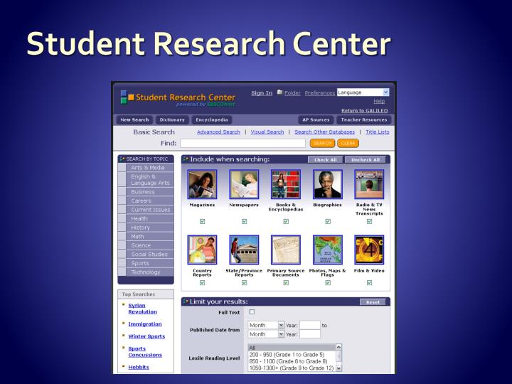 Student Research Center