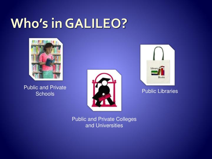 Who's in GALILEO?