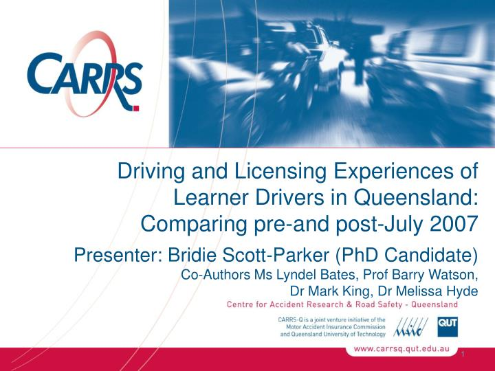 Driving and Licensing Experiences of