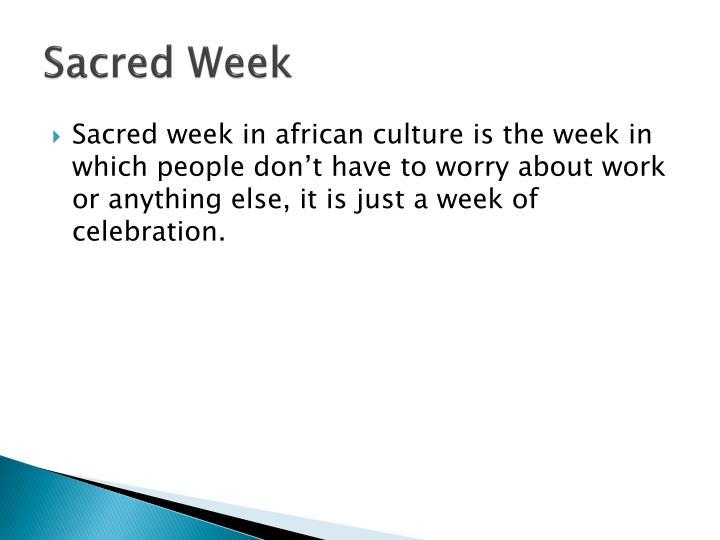Sacred Week