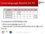 cross language results for ps