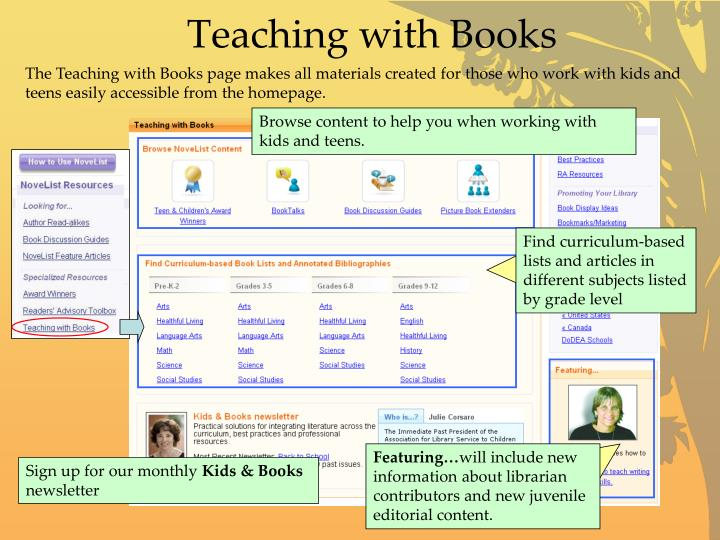 Teaching with Books