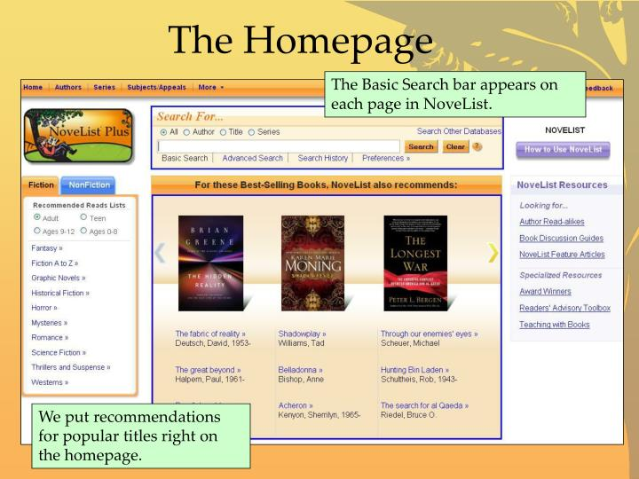 The Homepage