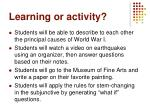 learning or activity