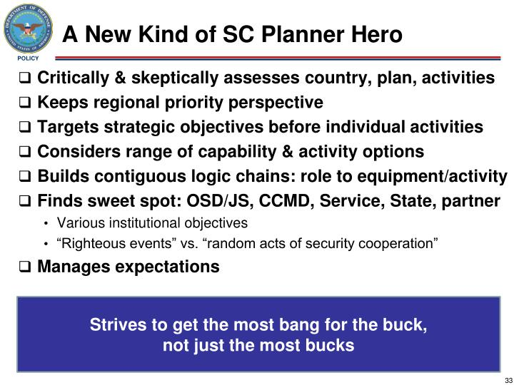 A New Kind of SC Planner Hero