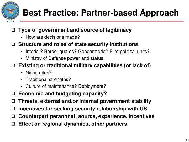 Best Practice: Partner-based Approach