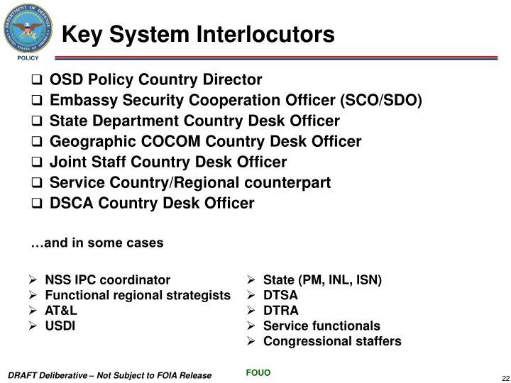Key System Interlocutors