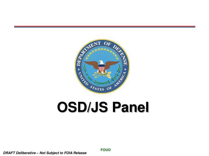 OSD/JS Panel
