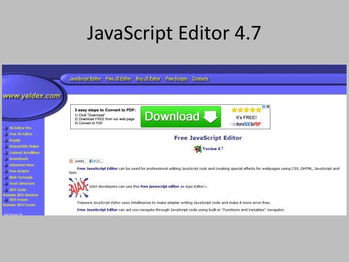 JavaScript Editor 4.7