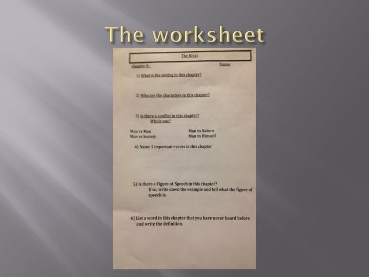 The worksheet