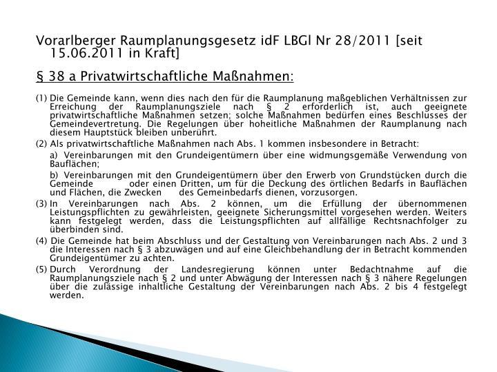 Vorarlberger Raumplanungsgesetz