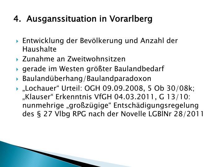 4.Ausganssituation
