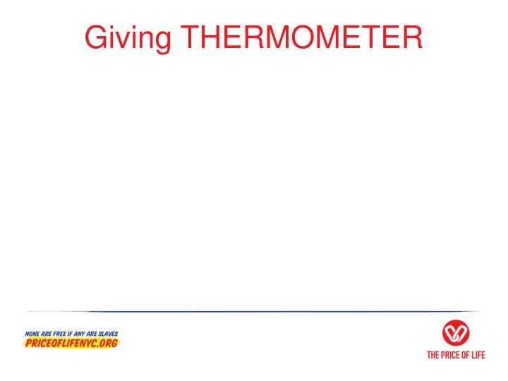 Giving THERMOMETER