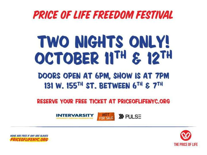 Price of life freedom festival