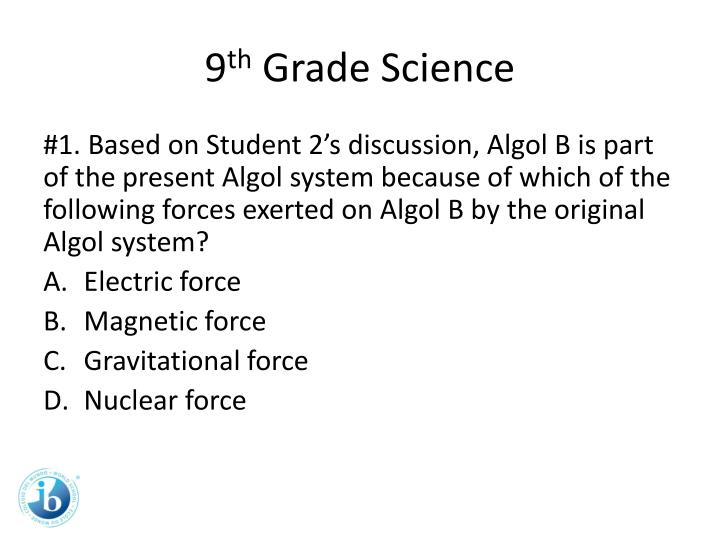 9 th grade science