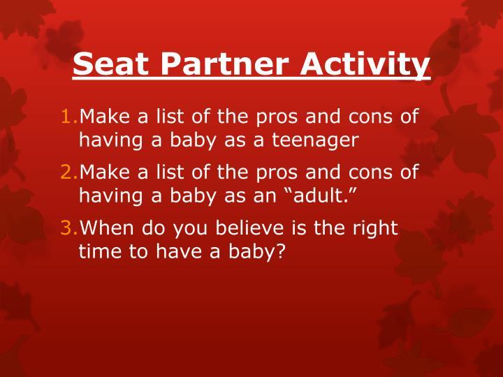 Seat Partner Activity