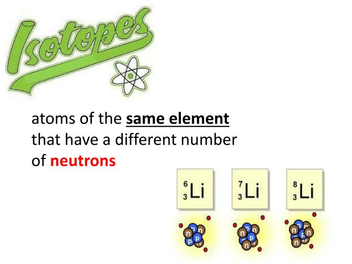 atoms of the