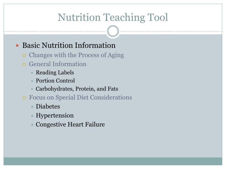 Nutrition Teaching Tool