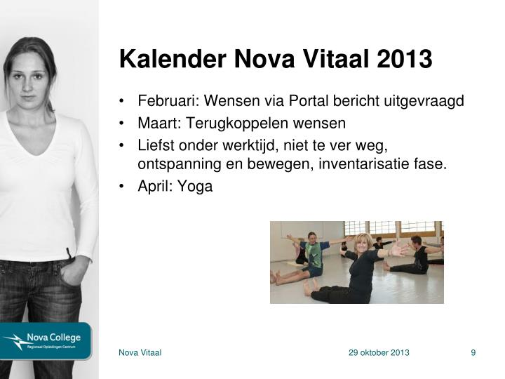 Kalender Nova Vitaal 2013
