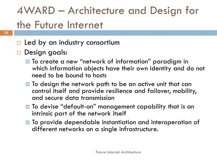 4WARD – Architecture and Design for the Future Internet