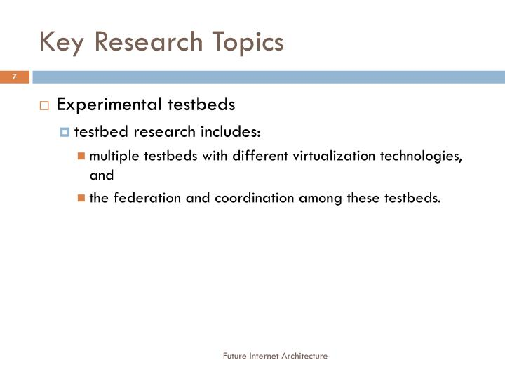 Key Research Topics