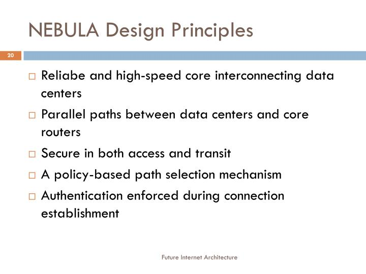 NEBULA Design Principles